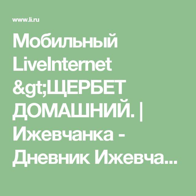 Мобильный LiveInternet >ЩЕРБЕТ ДОМАШНИЙ.   Ижевчанка - Дневник Ижевчанка  