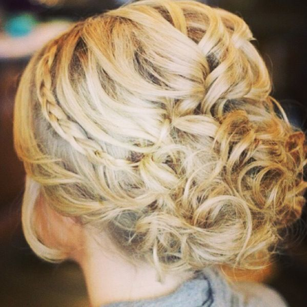 Possible grad hair! Messy bun with a braid!