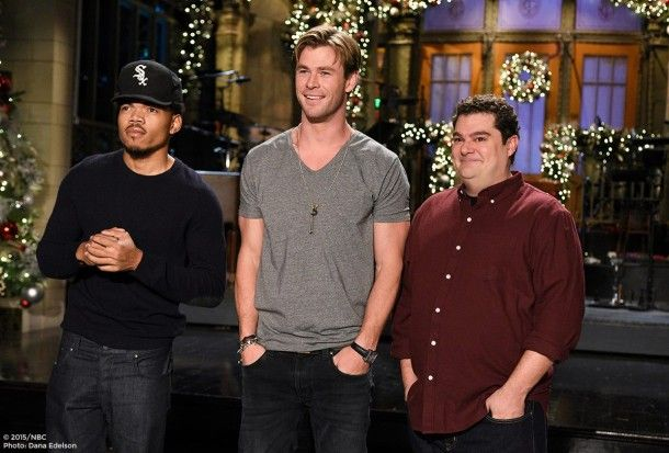 Chris Hemsworth​ hosts Saturday Night Live​ tonight with musical guest Chance The Rapper​ http://lenalamoray.com/2015/12/12/chris-hemsworth-hosts-snl-tonight-with-musical-guest-chance-the-rapper/