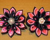 Handcrafted floral ponytail holder (Set of 2)
