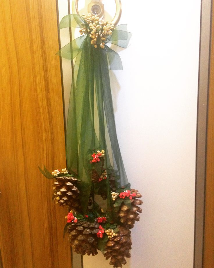 Pine cone, kozalak, kapı süsü