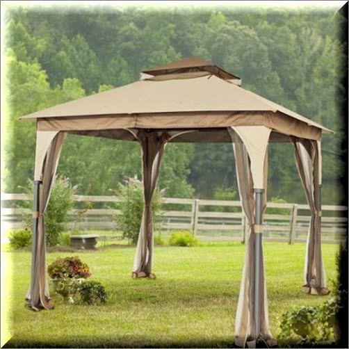 High Quality Outdoor Gazebo Canopy 8x8 Shelter Square Patio Garden Shade Cover Metal  Fabric