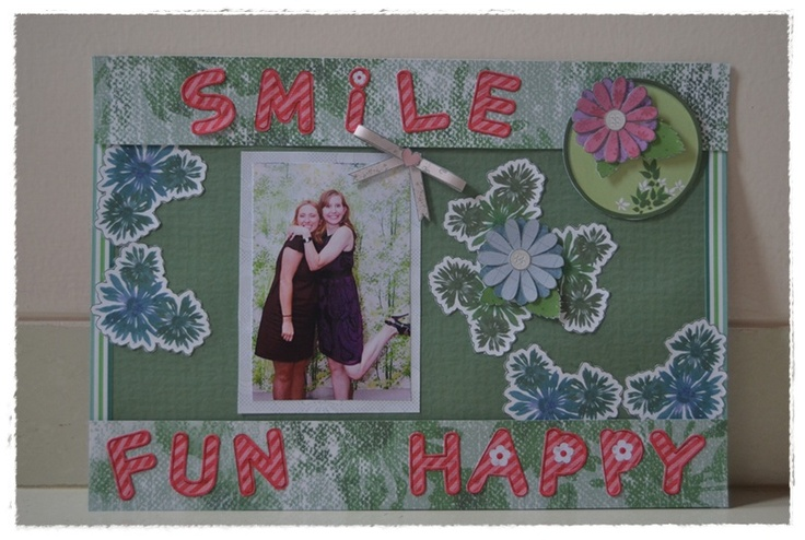 my first scrap book  theme : green and red