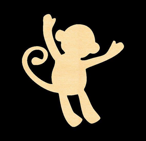 Unfinished Wood Monkey And Woods On Pinterest
