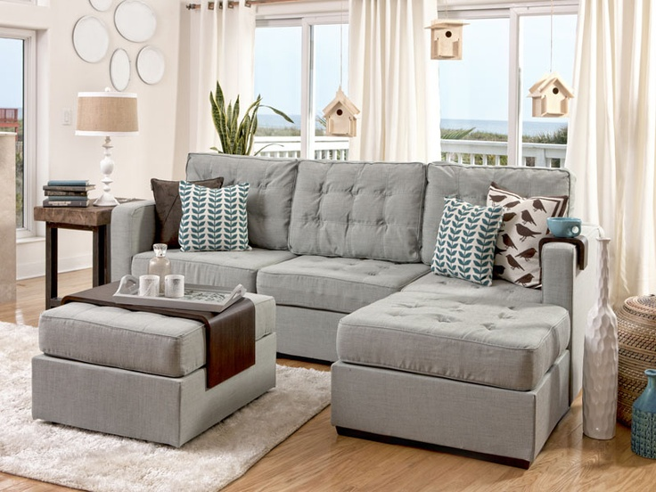 Lovesac Sectional Furniture....this is our next couch.  I love the add on cup holder and tray! So innovative!