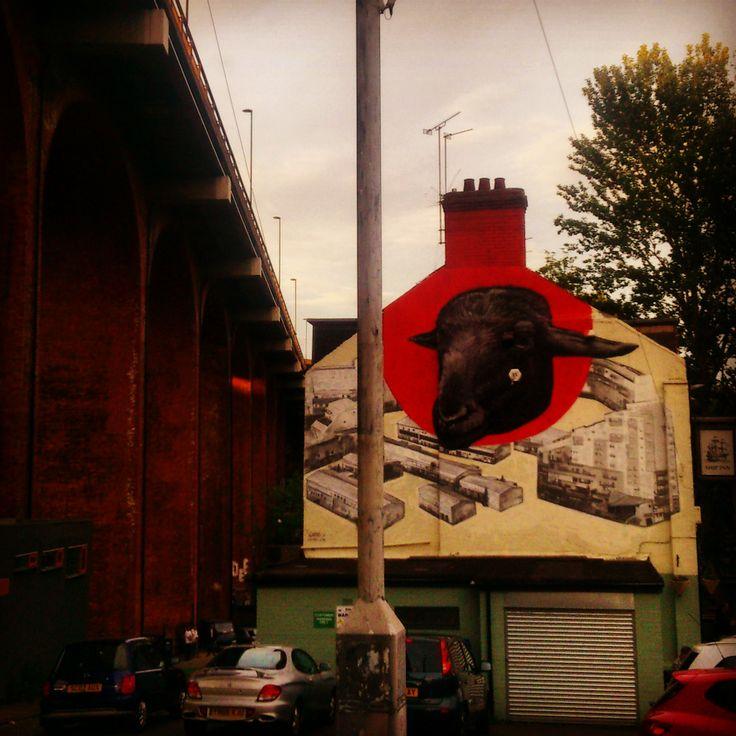 Red brick vs graffiti