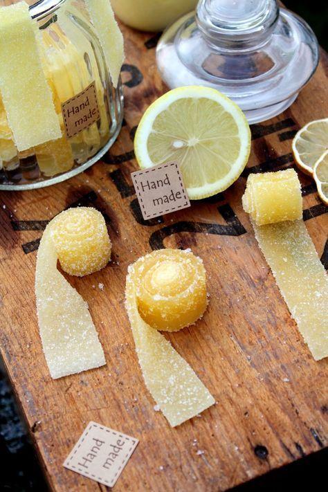 Syrliga Godisremmar med smak av Citron   Fridas bakblogg (gör paleo lemon curd & byt ut socker & sirap)