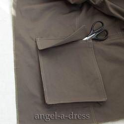 накладной карман «портфель»