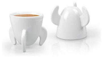 Blast Off! Espresso Cups - modern - Cappuccino And Espresso Cups - 1800Housewares