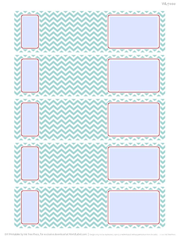 Envelope Wrap Address Labels With A Chevron Pattern. Free Download.  Free Address Labels Samples