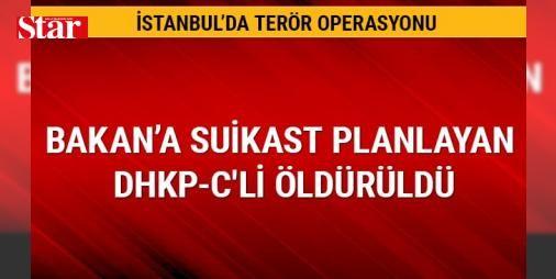 Bakan Soylu'ya suikast planlayan DHKP-C'li polisle çatışmada öldü: İstanbul Emniyet Müdürlüğü Terörle Mücadele Şube Müdürlüğü ekipleri bu sabah Acıbadem Mahallesi Betül Sokak'taki bir adrese özel harekat polislerinin desteğiyle operasyon düzenledi.   İçişleri Bakanı Süleyman Soylu'ya yönelik eylem hazırlığında olduğu bilgisi edinilen yasa dışı terör örgütü DHKP-C üyesi İnanç Özkeskin ile polis ekipleri arasında çatışma çıktı. Çatışma sonucu birçok kez teslim olması yönünde ç#Ağrı yapılmasına…
