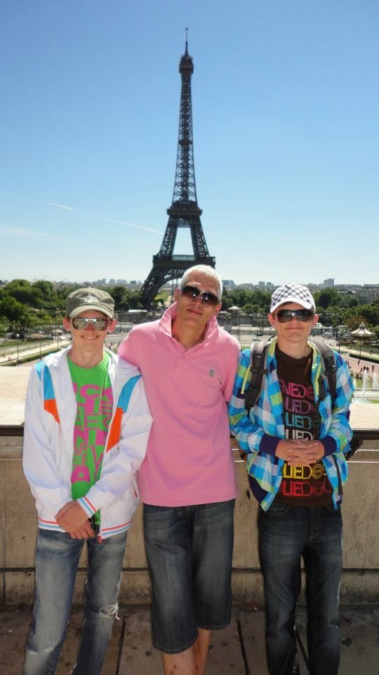 Me and the kids at the Eiffeltower, Paris