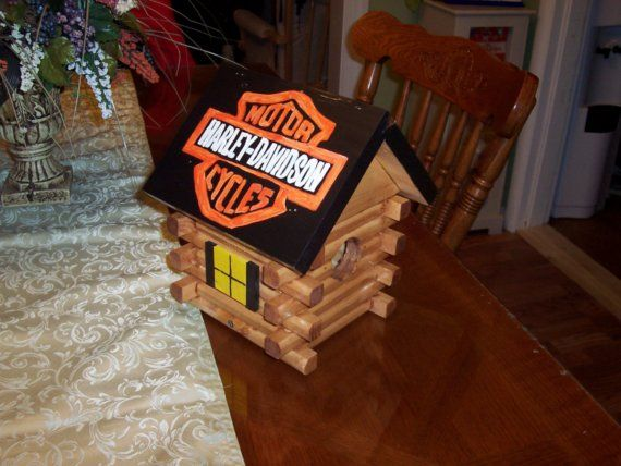 Harley Davidson Log: 8 Best Bird Houses Images On Pinterest