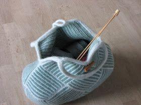 Frau Putz: Strik din egen stribede taske - kanter og hank