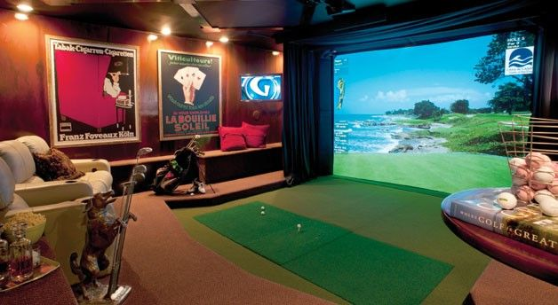 Man Cave Entertainment Ideas : The golf room by virtual girl glad we haven t