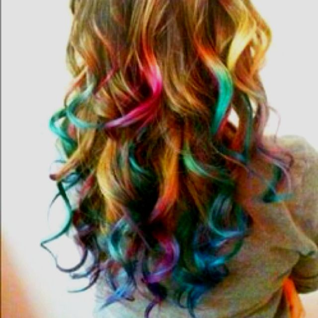 Multi Colored Layered Hair Hair Color Ideas And Styles For 2018