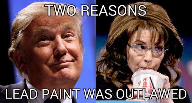 Funniest Memes Reacting to Sarah Palin's Endorsement of Trump: Two Reasons Lead Paint Was Outlawed