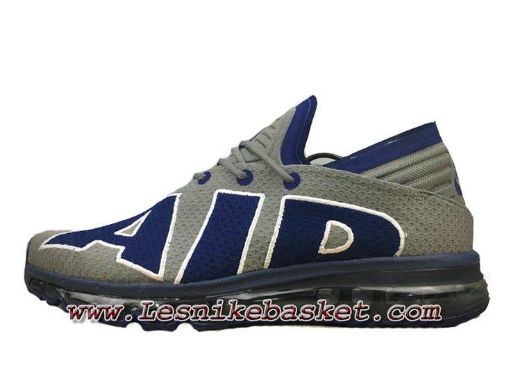 Nike Air Max Flair Gris Bleu 942236_ID4 Chaussures Nike pas cher Pour homme