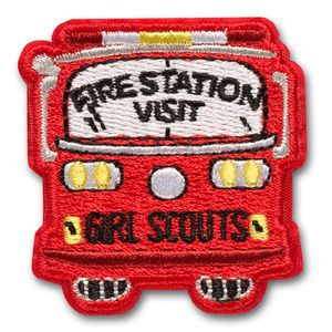 FIRE STATION VISIT IRON-ON PATCH