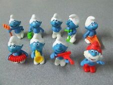 Kinder Surprise Egg toys of the Smurf's from 1997.