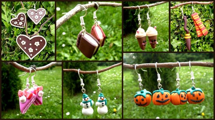 Fimo earrings...