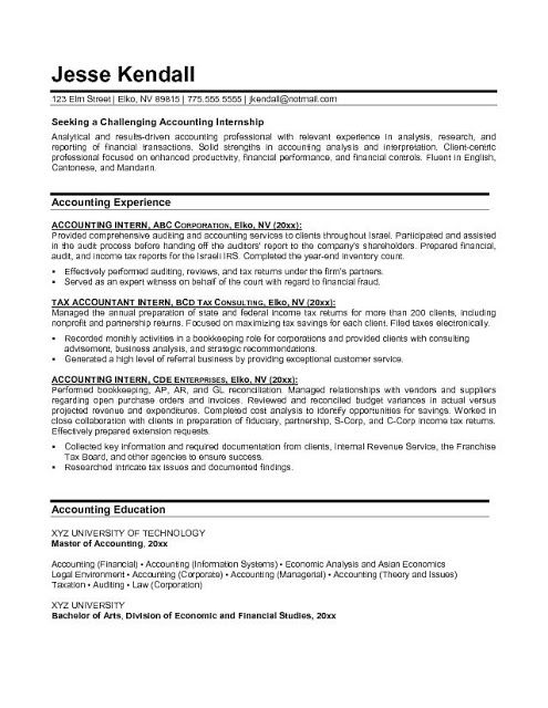 accountant lamp picture accounting resume samples eamples page - resume for accounting internship