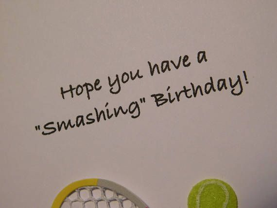 Tennis Birthday Card Tennis Card Birthday Card For Tennis Etsy Tennis Birthday Birthday Cards Birthday Greeting Cards