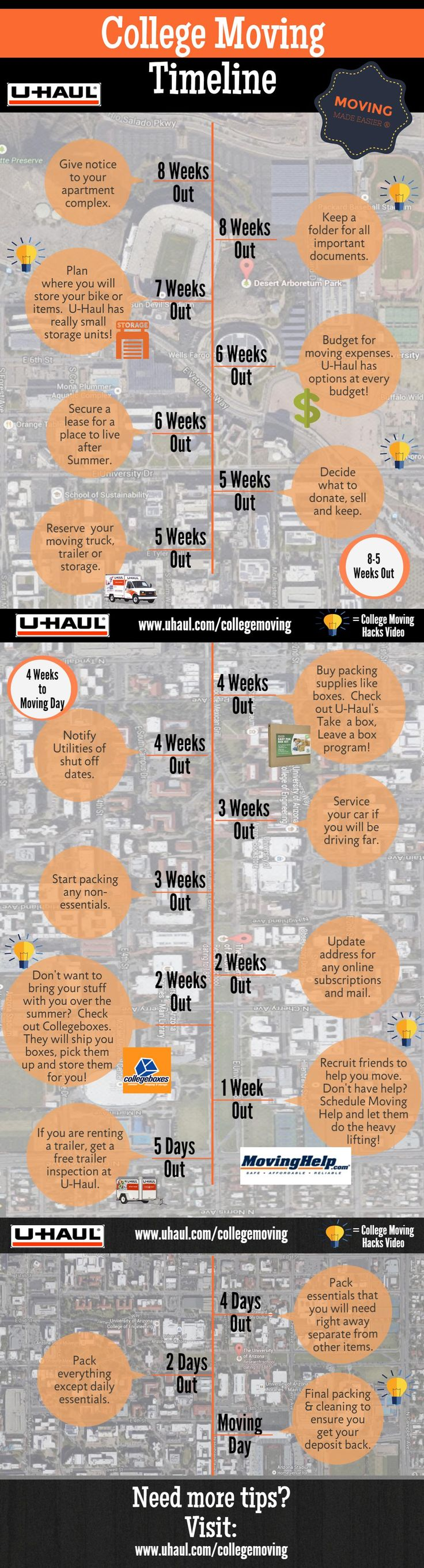 College Moving Tips: Moving Out Timeline (INFOGRAPHIC)