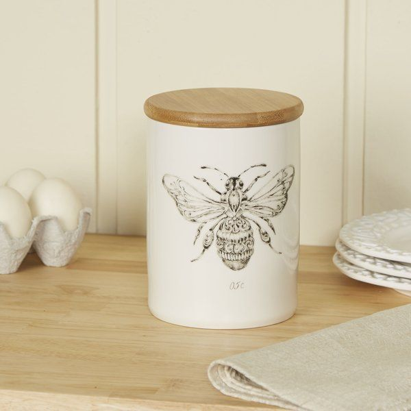 Edith Kitchen Canister Bee Kitchen Theme Honey Bee Decor Kitchen Cannisters