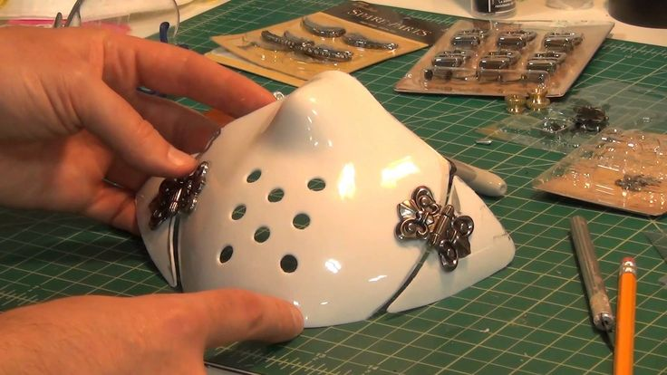 How to build a steampunk mask using a cheap halloween mask