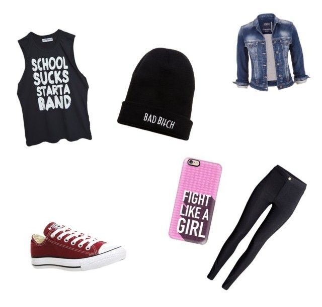 """Back2scholl Go rock school"" by annikenrabben on Polyvore featuring maurices, H&M, Converse, Kill Brand and Casetify"