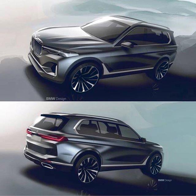 New Bmw X7 Renderings Bmwx7 Newcar Cardesign Automotivedesign