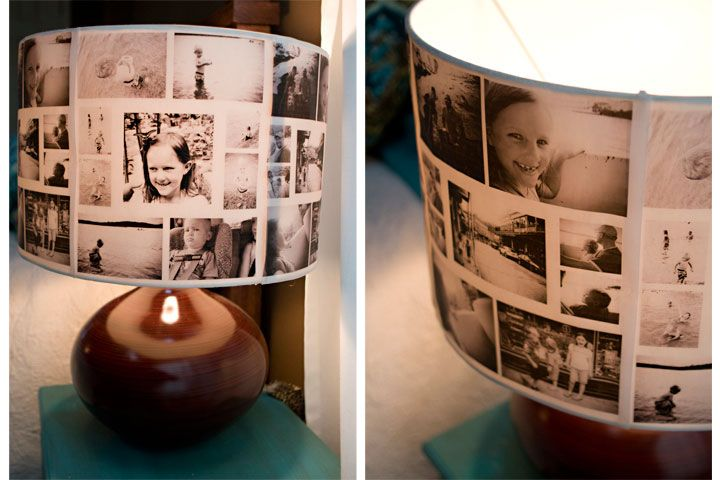 Photo Lampshades....great way to display old photo's.