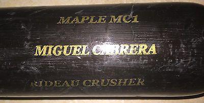 2010 Miguel Cabrera game used SAM bat cracked Detroit Tigers Florida Marlins HOF