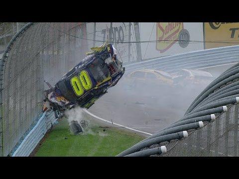 David Ragan, David Reutimann in big wrecks late at Watkin...