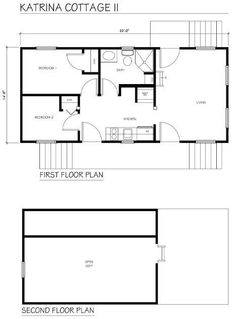 building plans single family katrina cottage - Katrina Cottage Plans