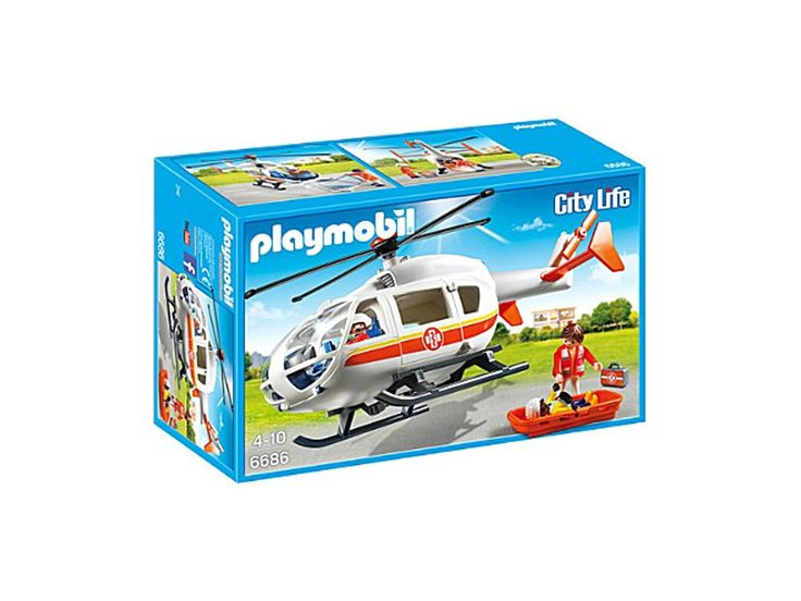 PLAYMOBIL Playmobil City Life Children's Hospital Emergency Medical Helicopter