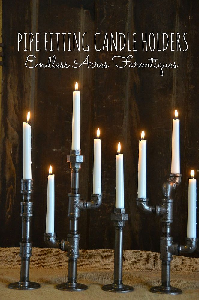 Pipe Fitting Candle Holders Tutorial