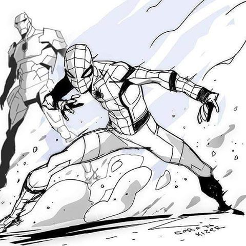 """Homecoming Spider Man By Coran Kizer Stone (@kizerilla) """"Thought the Spidey: Homecoming trailer was fun yeah. #Spiderman #homecoming #spiderman #spidey #spidermanhomecoming #kizer #coranstone"""