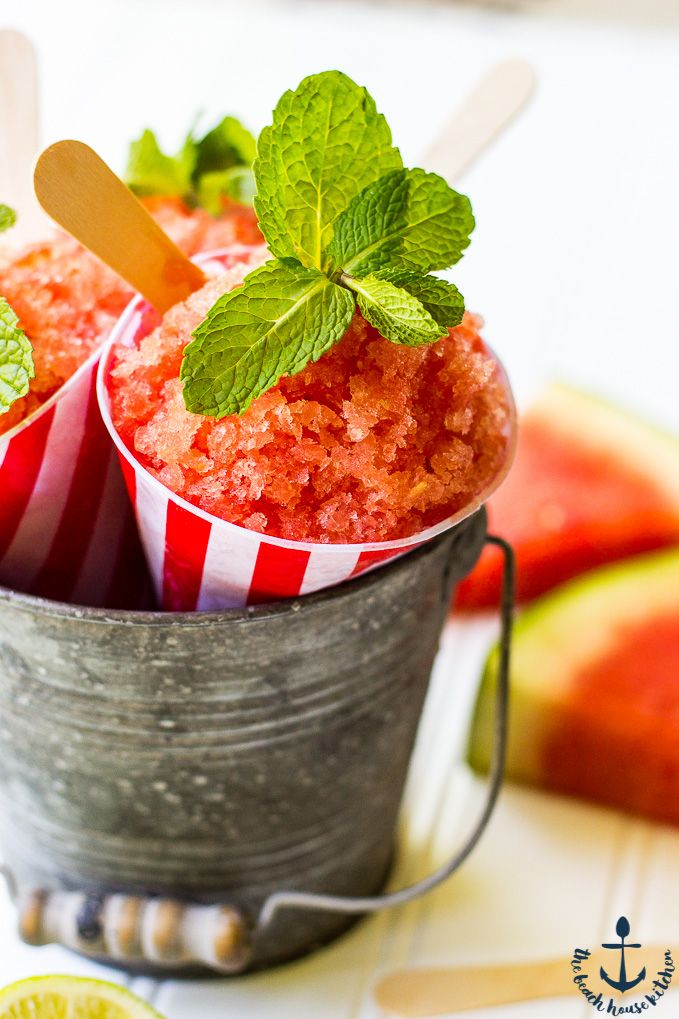 This Watermelon Granita is deliciously refreshing and perfect for all your summer parties. It takes minutes to make, couldn't be easier and is always a crowd pleaser! @thebeachhousek