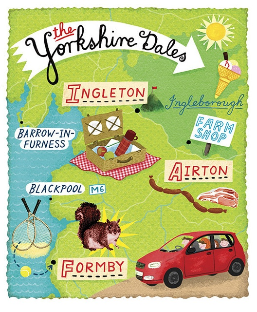 Linzie Hunter - Yorkshire Dales map