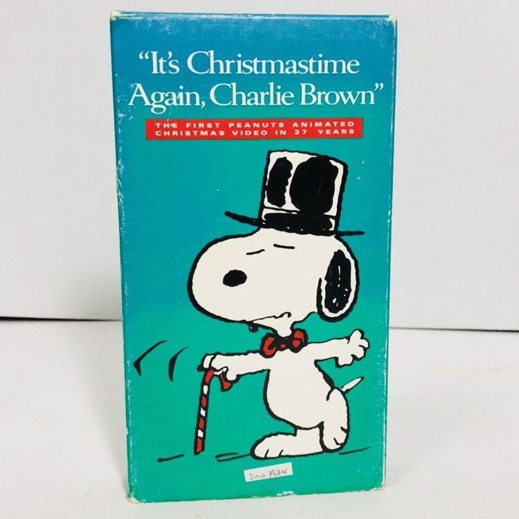 Its Christmastime Again Charlie Brown VHS 1992 Green