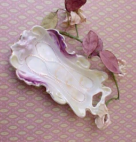 Beautiful Victorian Era German Porcelain Spoon Rest by TheJewelMystique on Etsy