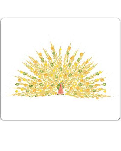 meyve şöleni - tavus kuşu / the fruit feast - the peacock / mouse pad / orange / lemon / kiwi / pear / banana / watermelon / pattern