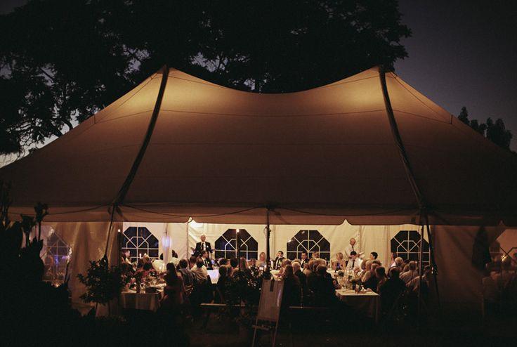 Tent reception!