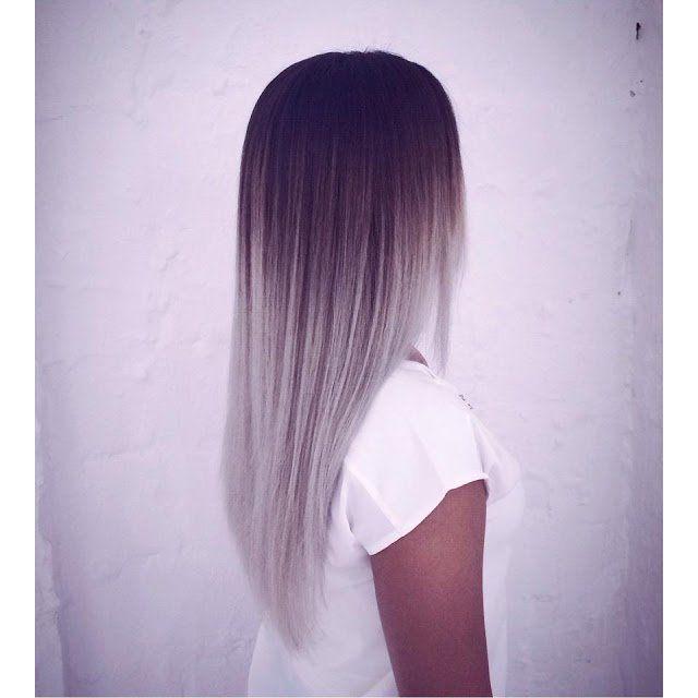 Grijs: een prachtige haarkleur voor de winter.. Laat je inspireren door deze 14  lange, grijze kapsels!