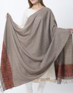 Wool Woven Diamond Palla Shawl