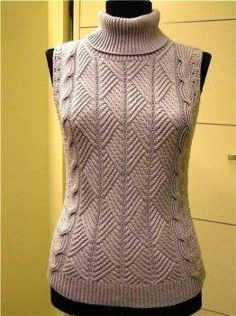 Шикарный пуловер или безрукавка
