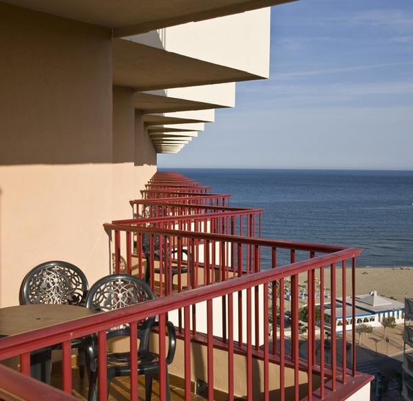 Vistas desde la habitación - Views from the room.  Hotel Angela. Fuengirola, Costa del Sol. SPAIN
