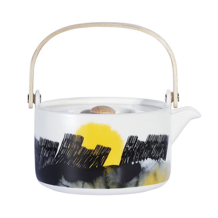 Discover the Marimekko Oiva White/Black/Yellow Teapot at Amara